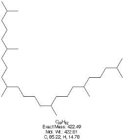 スクワラン構造式