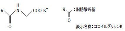 アミノ酸系界面活性剤 構造式