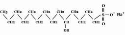 オレフィン(C14-16)スルホン酸Na構造図